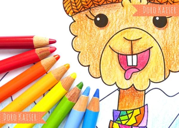 Malvorlage: Gratis Ausmalbild Lama | www.dorokaiser.online.de