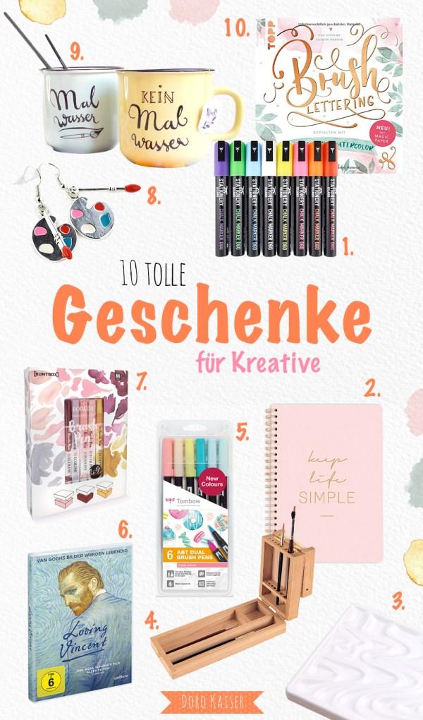 10 tolle Geschenkideen für Kreative - Aquarell, Lettering, Malen | www.dorokaiser.online.de