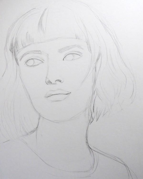 Schritt für Schritt Aquarell Porträt malen