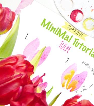 Malen mit Aquarellfarben: MiniMal Tutorial - So malst du eine Tulpe