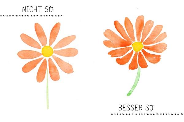Aquarell Blumen Tipps Magerite