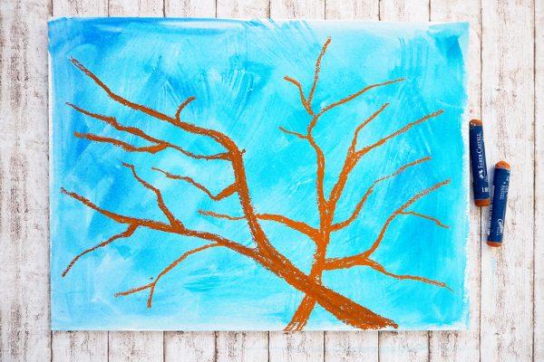 Malen mit Kindern Frühling