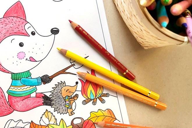 Malbild für Kinder Fuchs