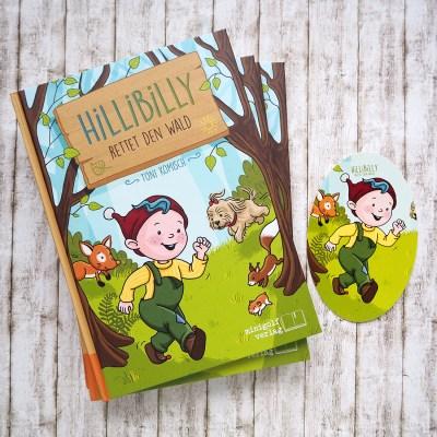 "Kinderbuch ""Hillibilly rettet den Wald""Autor: Toni KomischIllustration: Doro Kaiser"
