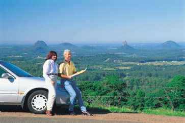 003989 Glass House Mountains View to Glass House Mountains