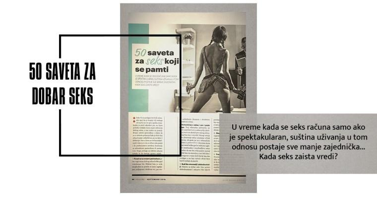 50 SAVETA ZA DOBAR SEKS (Esquire, septembar 2018)