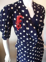 30s dress vintage dress polka dot dress rockabilly dress