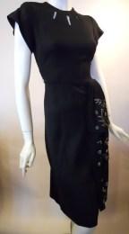 40s dress vintage dress beaded dress