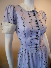 40s dress vintage day dress novelty print