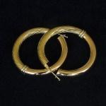 €480,00 – Coppia di Orecchini a Cerchietto in Oro Giallo 18k