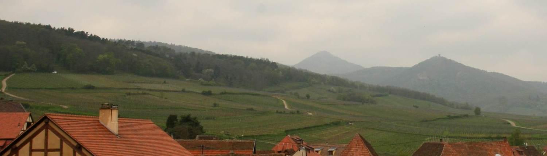 De bergen bij de Elzas in Hunawhir, Frankrijk