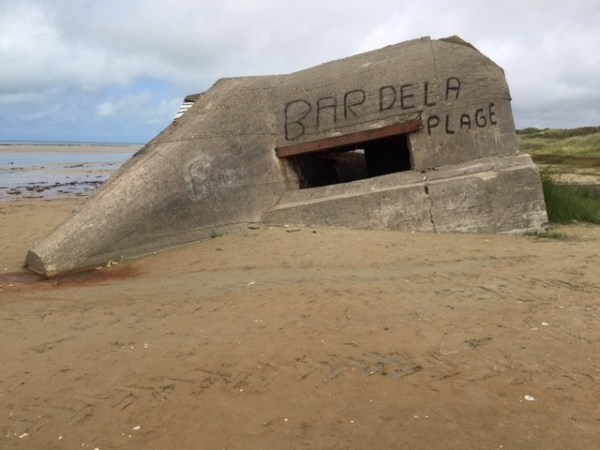 Een Duitse bunker bij Sainte-Cécile-Plage in Frankrijk