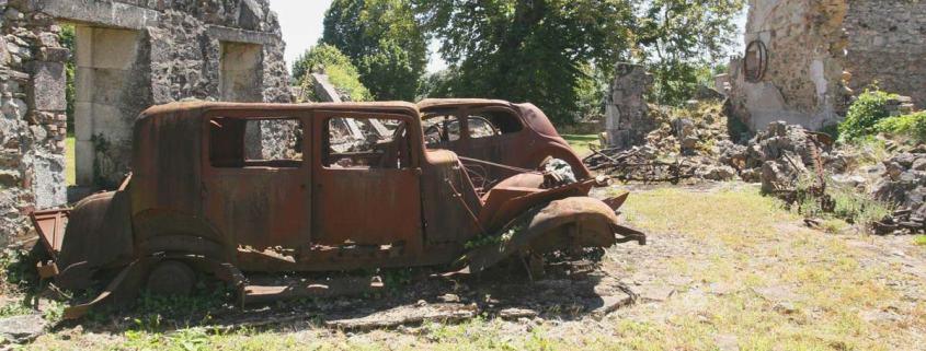 Oradour-sur-Glane-tweede-wereldoorlog-dorp-verwoest