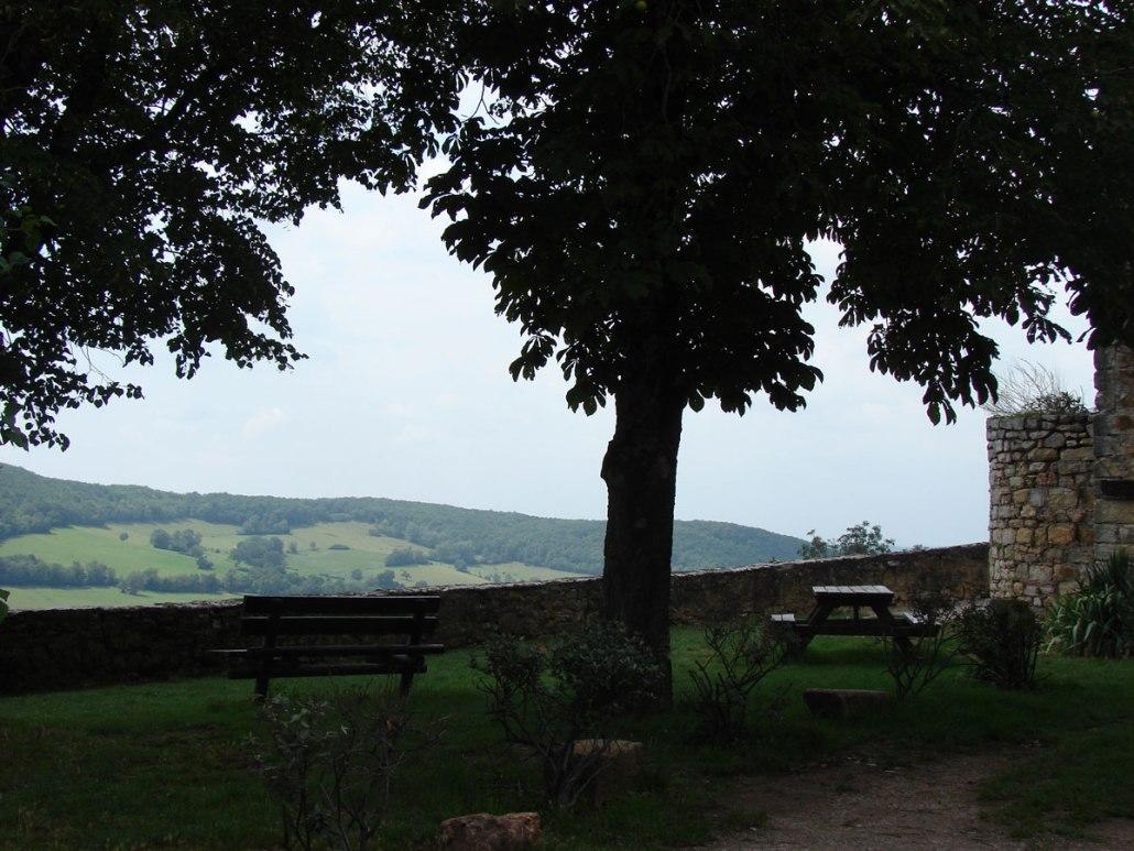 Picknick plek in Puycelsi