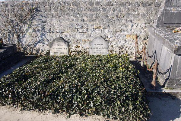 Het graf van Vincent van Gogh en zijn broer Theo in Auvers sur Oise