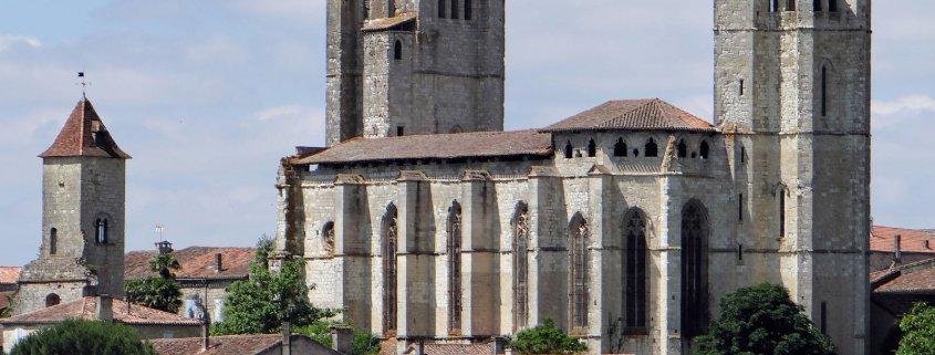 De kerk van La Romieu in het zuiden van Frankrijk