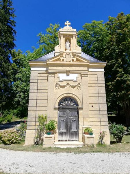 Kapel van het kasteel Sablou in de Dorgdogne, Frankrijk