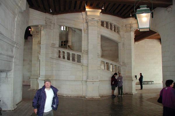 De centrale trap in Chambord is zeer waarschijnlijk ontworpen door Leonardo da Vinci