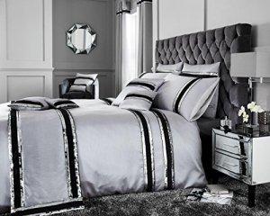 Comfy Nights Diva Parure de lit ou housses de coussin, Silver, Housse de coussin