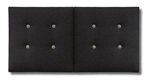 KUMDITÀ Lit pliant modèle London 160 x 80 cm Noir