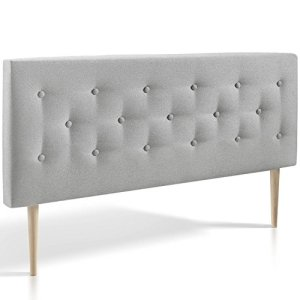 Tête de lit Oslo 140 cm, capitonnée tissu grey