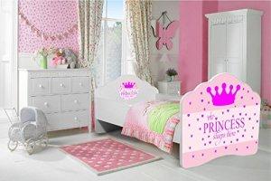 Lit pour enfants «princesse endormie» Lit bébé 160×80 cm avec un matelas