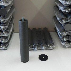 Lot de 4 pieds pour sommier base ou capitonnée cilã  ndricas avec filetage 10 mm