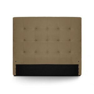Menzzo HB140 Contemporain Luxor Tête de Lit Bois Taupe 8 x 150 x 122 cm