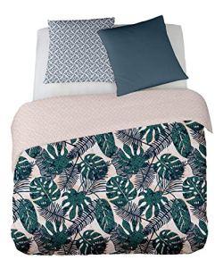 PALMAS 260×240 cm – SOLDES (visualisez tous nos soldes dans notre boutique Doran Sou Amazon) – Parure de lit pour 2 personnes : Housse de couette 260×240 cm + Taies d'oreiller 65×65 cm