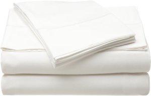 Accueil Source 50500TWW01 100 Percent Bamboo Double Drap plat – Blanc