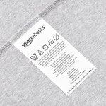 AmazonBasics Drap-housse en jersey chiné, Gris 90 x 200 x 30 cm