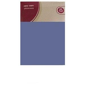 Attic – Drap Housse 100% Coton Égyptien 200 Fils Au Pouce² Taille Simple Double King Superking – Tissu, Bleu, Paire de taies