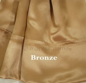 Soie Charmeuse de feuille–Bronze–Queen Ensemble