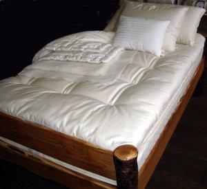 Holy Lamb Organics matelassé ultime Surmatelas en laine, ivoire, Queen Size