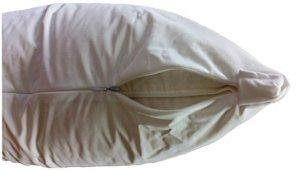 Assurer Une Veille étanche 2à Fermeture Éclair, Anti-acariens & Allergy Control, punaises de lit Respirant Protège Oreiller, Lot de 2, Microfibre, Blanc, Standard-Queen (20 x 28)