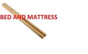 BED AND MATTRESS B & M 2x Pieds Pieds Lit