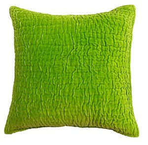 Be-You-tiful Home en Velours de Coton Sham Ensemble, Euro, Citron Vert