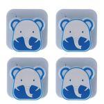 Hasiky 4pcs/Lot de Dessin animé Housses de Couette lit Support Clip Clamp Fermeture avec Housse de Couette Gripper Enfants l'utilisation à Domicile, Multicolore, Blue-Elephant
