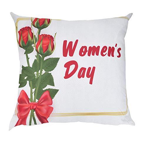 liYEZI ❤️ Fête des Mères Taie d'oreiller,Carrée Housse De Coussin,Cadeau Femme Maman Imprimé Fleur Lettre l'amour Linge De Maison Décoration De La Maison 45 x 45 cm (B)