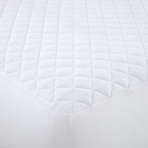 Shavel Home Products Matelas en Flanelle Blanc