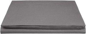 AmazonBasics Everyday Drap plane en coton 100%, 280 x 320 cm – Gris foncé