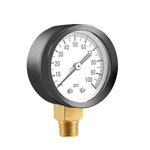KEKJORY Simmons 1305 0-100 PSI 1/4″ Well Pump Water Pressure Gauge TS50-100PSI