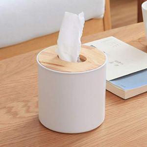 HELLOGIRL boîte de mouchoirs en Bois Rouleau de Papier Maison Voiture Contenant conteneur Porte-Serviettes