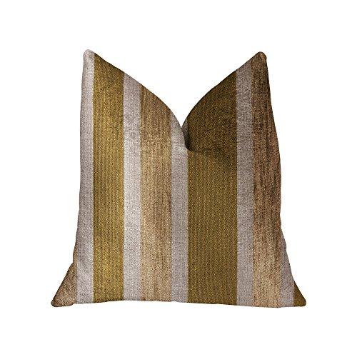 Plutus Golden Tan Lines Taie d'oreiller de luxe Doré Double face 50,8 x 36″ King size
