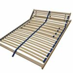 Erst-Holz Sommier à Lattes Flexibles 100 x 200 cm, Zone de la tête réglable 70.32-10FV