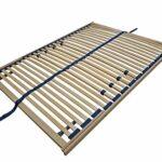 Erst-Holz Sommier à Lattes Flexibles 140 x 190 cm, Zone de la tête réglable 70.32-14-190FV