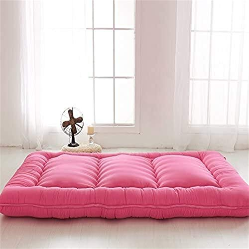 dongyu Tapis de sol futon Tatami japonais, tapis de sol futon japonais, matelas de couchage pour lit enroulable, taille complète (taille : 135 x 200 cm, couleur : rouge)