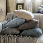 Hoomall Housse de Coussin et Lin Canapé Maison Decor Taies d'oreiller Housse de Coussin pour Maison Salon Chambre(Beige*2,40x40cm)