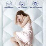 IMISSYOU Sur-matelas 140 x 190 cm – Doux – En microfibre – 8 cm – Hypoallergénique et résistant aux acariens – Lavable – Version d'essai 40 nuits