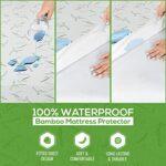 Utopia Bedding Protège-matelas imperméable en bambou – Housse de matelas hypoallergénique – Technologie respirante Cool Flow – Sans vinyle (complète)